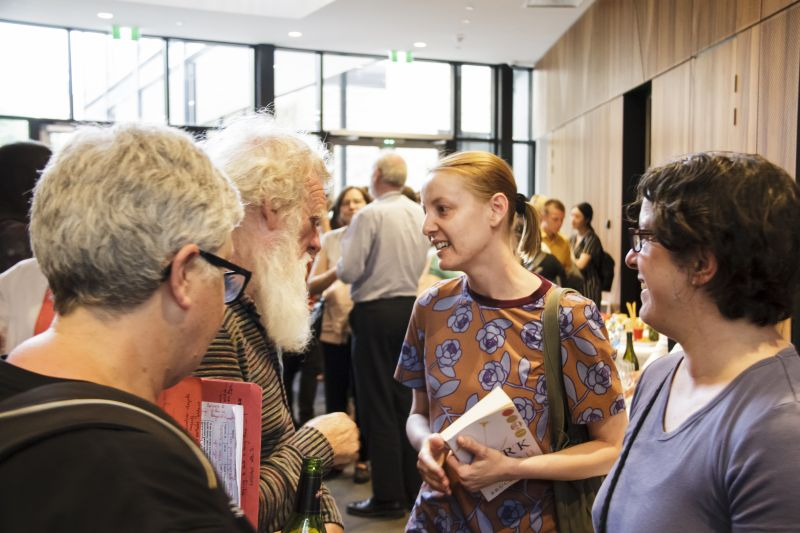 guests with Bruce Pascoe mingling and having their book signed