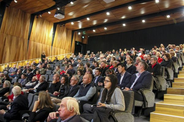 Around 200 researchers, students, wine industry representatives and members of the community attended the panel.