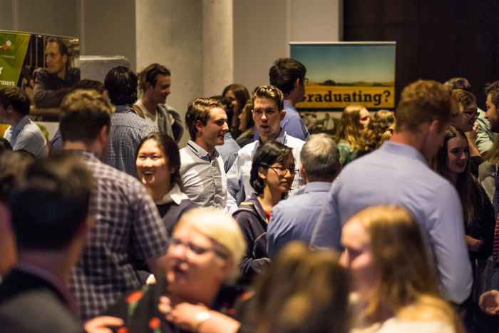 Students networking on the night and expanding their connections in the agriculture industry
