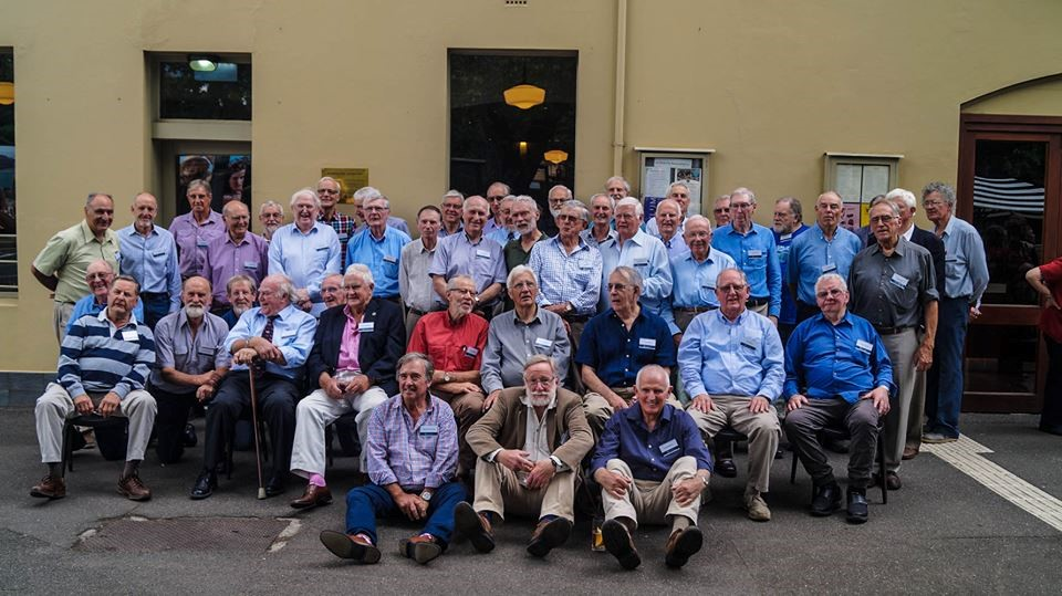 The combined 61-4 and 62-5 groups outside Naughton's – Nov 2017